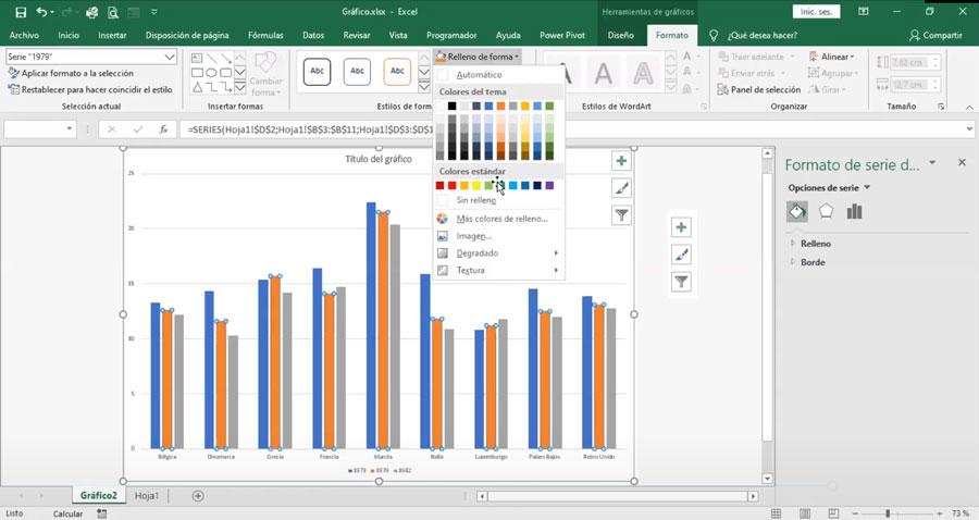 Editar gráficas de Excel