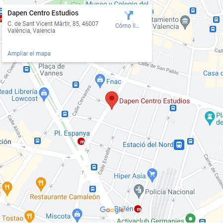 Dapen dirección Valencia capital